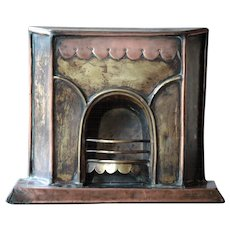 "Antique English SALESMAN""S Miniature FIREPLACE Model - Shop Advertising Architectural Sample"