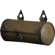 Antique English Toleware Tin Candle Box - 19th Century Primitive Folk Art Early Lighting