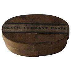 19th Century Antique English Bentwood Pantry Box --- Black Currant Paste