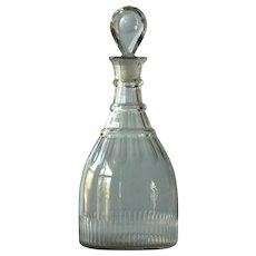 Antique Georgian English Cut Glass Carafe Decanter