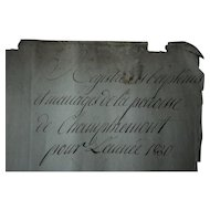 Antique French Manuscript Document - 1830 Marriage and Baptism Register