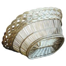 19th Century French Wicker Woven Basket