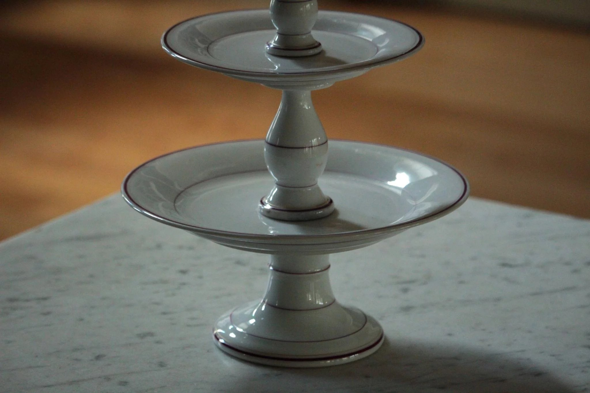 19th Century French Porcelain Tazza Compote Stand