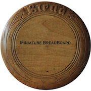 Antique English Carved MINIATURE Breadboard - Salesman's / Apprentice Sample Bread Board