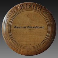Antique English Carved MINIATURE Breadboard - Salesman's / Apprentice Sample Bread Board