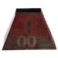 Vintage English Pattisson Golf Course Marker Bin - Industrial Galvanized Metal Box #1
