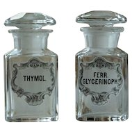 Antique Apothecary Glass Perfume Essence Bottles