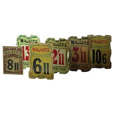 Vintage 1920s-30s English Walkers Shop Price Signs - Store Advertising