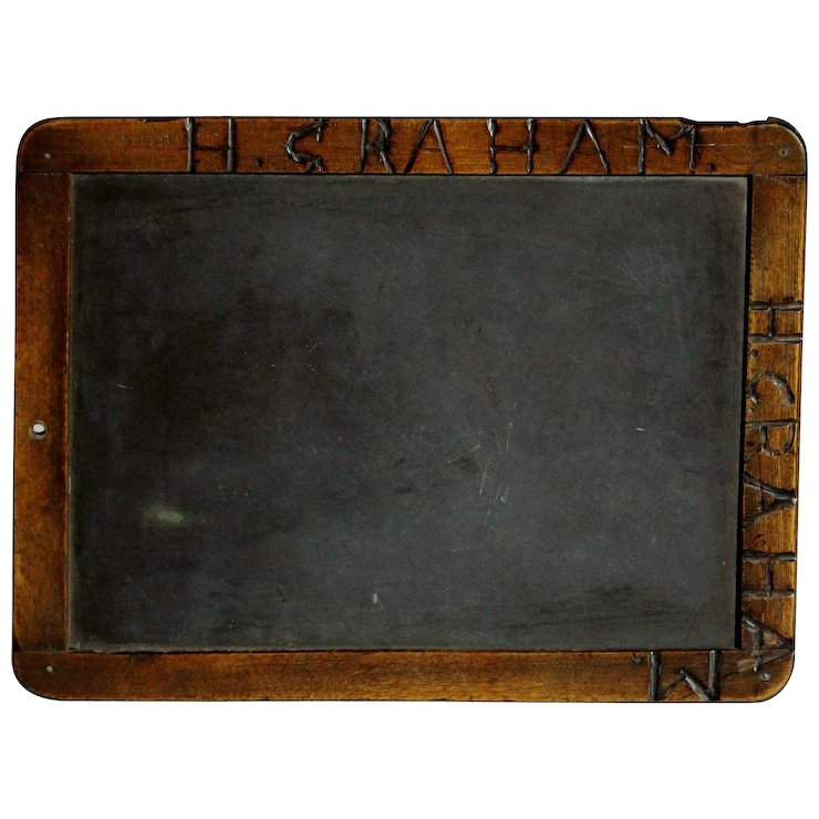 antique english 19th century school chalkboard writing slate