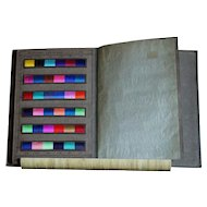 Vintage 1920s English Textile Color Swatch Chart Book - Yarn Dyers Sample Card Trade Cataloge
