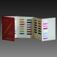 Vintage French Textile Color Swatch Chart Book - Silk Thread Yarn Sample Card Trade Cataloge