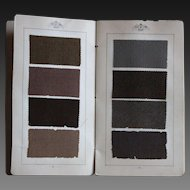 Antique 1912 & 1913 Textile Fabric Samples Catalogue / Book