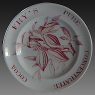 RARE English Antique Fry's Pure Concentrated Cocoa - Advertising Plate