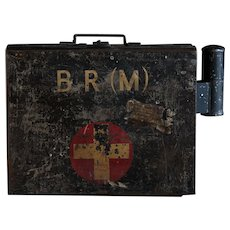 Vintage 1940s BR(M) English British Railways First Aid Box & Contents