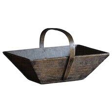 Antique French Grape Trug - Garden Harvest Basket