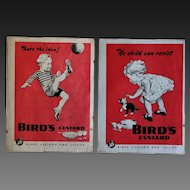 Vintage 1940s English Bird's Custard And Jellies Magazine Advertisement Pages