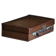 Antique English Leather Case - SMALL Travel Case