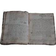 1720 Antique French Handwritten Notary - 18th  Century Manuscript / Register