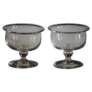 Antique Georgian Glass - Jelly Glasses / Sweetmeat / Salt