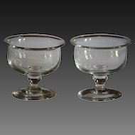 Antique Georgian Glass - Jelly Glasses / Sweetmeat / Salt