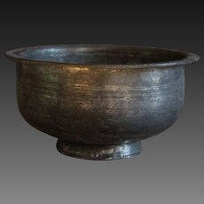 Antique Ottoman Tinned Copper Bowl