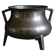17th Century Bronze Cauldron - Antique Cooking Pot / Vessel
