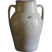 Antique Italian Earthenware Glazed Amphora Preserve Jar - Confit Pot