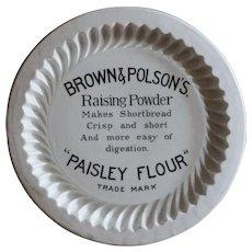 Antique English Brown & Polson's Shortbread Advertising Mold
