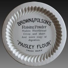 Antique English Brown & Polson's Shortbread Advertising Mold