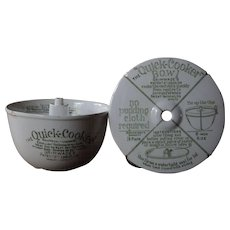 Antique English Grimwades Quick Cooker Pudding Bowl Mold