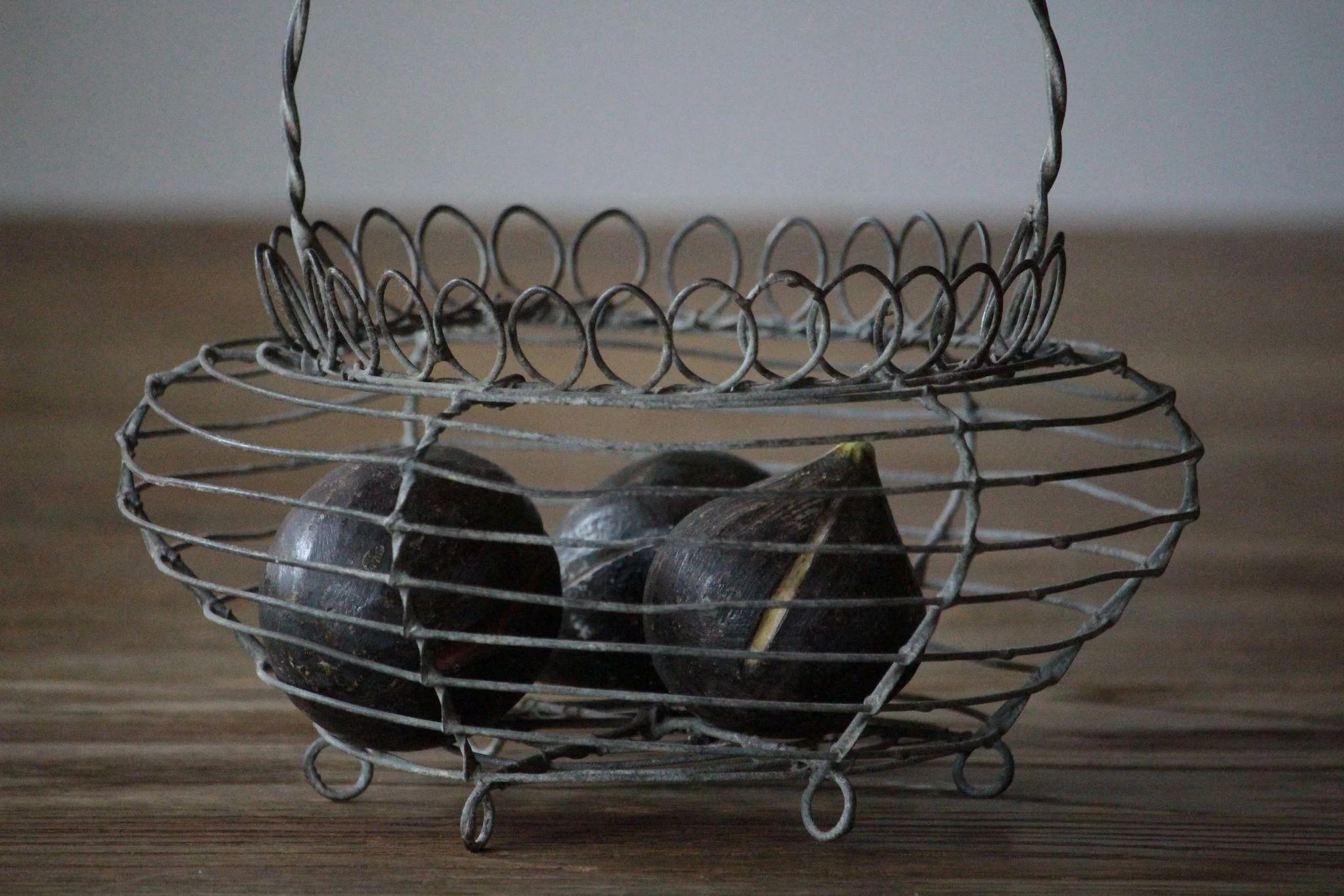 Antique French Wire Work Egg Basket - : English And French Country ...
