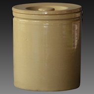 Antique English Yelloware Storage Jar - Kitchen Canister