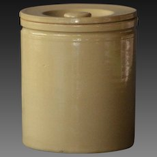 Antique English Yelloware Storage Jar - Kitchen Canister