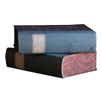 19th Century Italian BOOK BOXES - Antique Archive Document Box