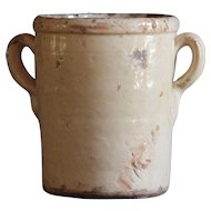 VERY SMALL Antique Italian Confit Pot - 19th Century Puglia Terracotta Preserve Jar