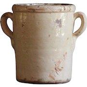 VERY SMALL Antique Italian Confit Pot - 19th Century Terracotta Preserve Jar