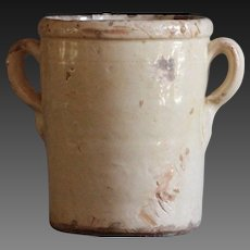 VERY SMALL Antique Italian Confit Pot - 19th Century Terracotta Preserve Jar