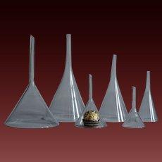 Antique Blown Glass Funnels