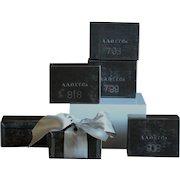 Vintage English Merchant's Tea Sampling Tins - Industrial Storage Boxes