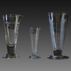 Vintage & Antique English Apothecary Glass Measures - Medical
