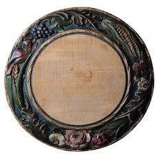 Antique Carved English Victorian Bread Board - 19th Century Breadboard