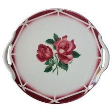 VIntage French Digoin Sarreguemines Cake Serving Plate / Platter