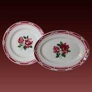 VIntage French Digoin Sarreguemines Serving Plates / Platters