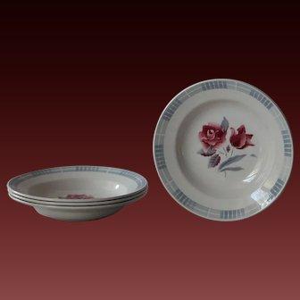 VIntage French Digoin Sarreguemines Soup Plates / Bowls