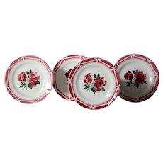 VIntage French Digoin Sarreguemines Dessert / Side Plates
