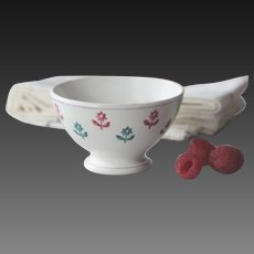 SMALL VIntage French Digoin Sarreguemines Cafe Bowl