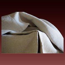 Antique Hemp Dowry Sheet - Homespun Hand-loomed Textile