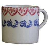 19th Century Spongeware Mug