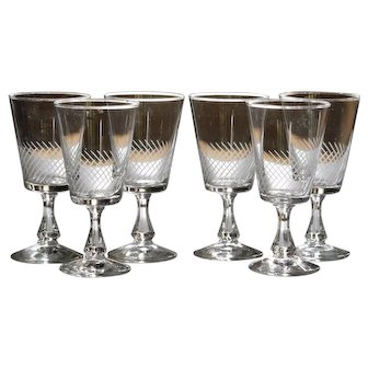 Vintage French Glass - Sherry Wine / Liqueur - Stemware