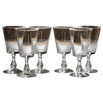 Vintage French Glass - Sherry Wine / Liqueur - Stemware